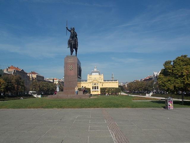 Squares in Zagreb